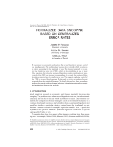 formalized data snooping based on generalized error rates