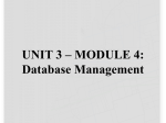 Chapter 14 * Database Management