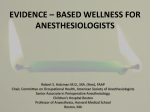 evidence * based wellness for anesthesiologists
