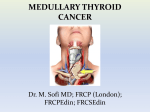 Medullary thyroid cancer