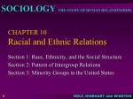 CHAPTER 10 Racial and Ethnic Relations