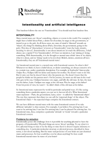 Intentionality and artificial intelligence