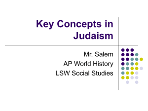 Key Concepts in Judaism