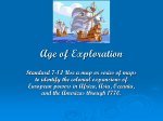 Age of Exploration - Whitesides Elementary School