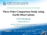 Three Poles Comparison Study using Earth Observations