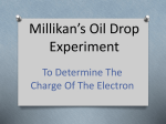 Millikan`s Oil Drop Experiment
