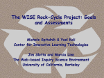 The WISE Rock-Cycle online curriculum: A modular