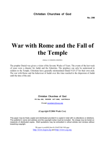 War with Rome and the Fall of the Temple (No. 298)