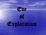 Eve of Exploration Notes