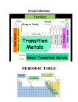 Period Table, valence Electrons and Ion Notes