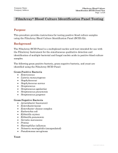 FilmArray Blood Culture Panel Procedure in CLSI Template
