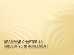 Grammar Chapter 14 Subject