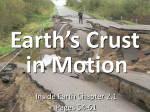 IE 2.1 Earth`s Crust in Motion