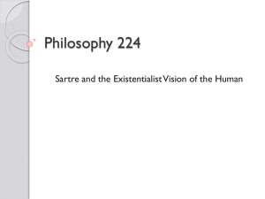 Sartre and the Existentialist Vision of the Human