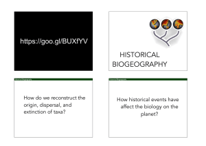https://goo.gl/BUXfYV HISTORICAL BIOGEOGRAPHY