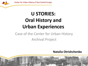 UStories: Oral History and Urban Experiences