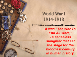 1-World War I