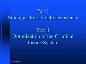 Part I Strategies to Estimate Deterrence Part II