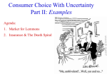 Choice with uncertainty examples from 2-17 File