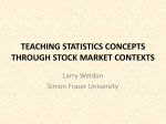 teaching variability through stock market contexts