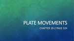 Plate movements - Yr9-Earth