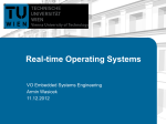 Real-time Operating Systems - Institute of Computer Engineering