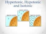 Hypertonic, Hypotonic and Isotonic