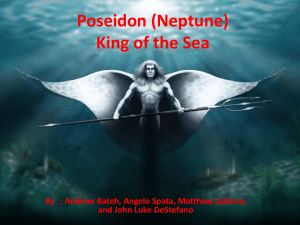 Poseidon (Neptune) King of the Sea