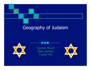 Geography of Judaism