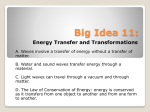 Big Idea 11: Energy Transfer and Transformations