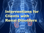 10. Interventions for clients with renal and urinary problems