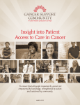 Insight into Patient Access to Care in Cancer