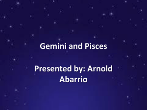 Gemini and Pisces