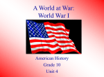 A World at War: World War I