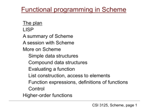 Class Notes 2b: Scheme Reference