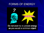 Energy types NOTES