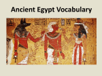 Egyptian Vocabulary Powerpoint