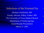 Infections of the External Ear