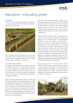 Agriculture – stimulating growth