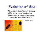 3. Evolution of Sex 10