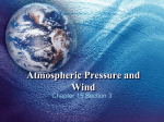 Atmospheric Pressure and Wind