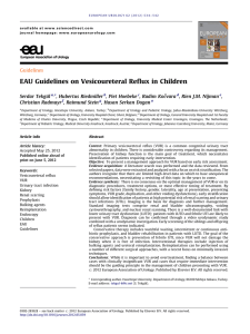 EAU Guidelines on Vesicoureteral Reflux in Children
