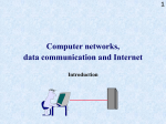 Computer networks and data communication