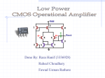 Low power CMOS operational amplifier