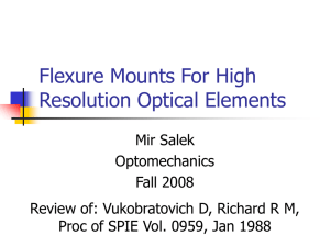 Flexure Mounts For High Resolution Optical Elements