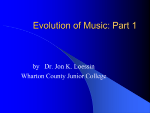 Types of Music - Wharton County Junior College