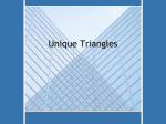 Unique Triangles
