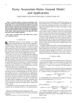 Fuzzy association rules: general model and applications