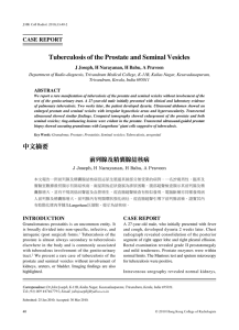 Tuberculosis of the Prostate and Seminal Vesicles
