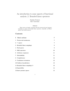 An introduction to some aspects of functional analysis, 2: Bounded